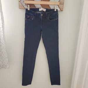 3/$30 Hollister dark wash skinny jeans